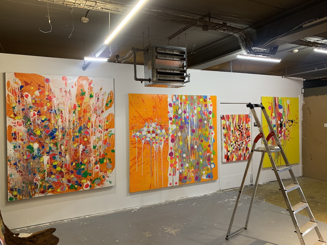 Frank Jons exhibits at the FUELBOX IV in Howald